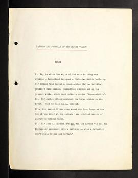 Sir Daniel Wilson's Journal.  Photocopy of B1965-0014/003(01), p. 1-107
