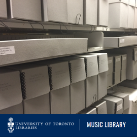 Go to University of Toronto Music Library