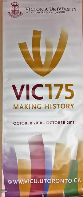 Banner, Vic 175 Making History, October 2010-October 2011