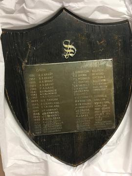 Plaque with List of South House Dons and Presidents
