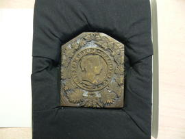 Victoria University crest bronze engraving plate