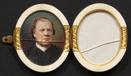 Portrait of Rev. William Morley Punshon in  ivory locket